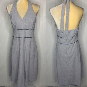 Liz Claiborne Seersucker Halter Dress Size 12